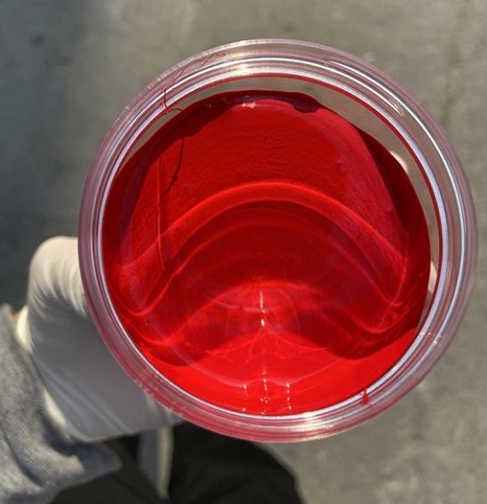 不饱和聚酯色浆鲜红实物 254红
